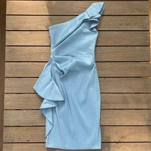 Blue One-Shoulder Cocktail, Mother of Bride Dress
